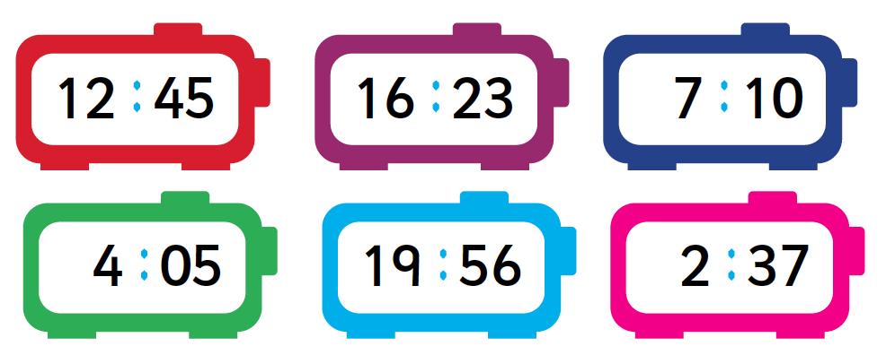 Bingo Converting Time 12 and 24 hour Clock | Teaching ...
