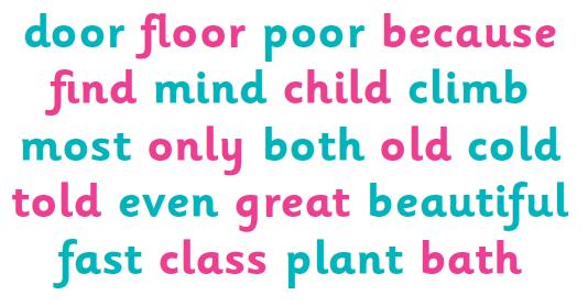 Exception words explained for parents | KS1 exception words