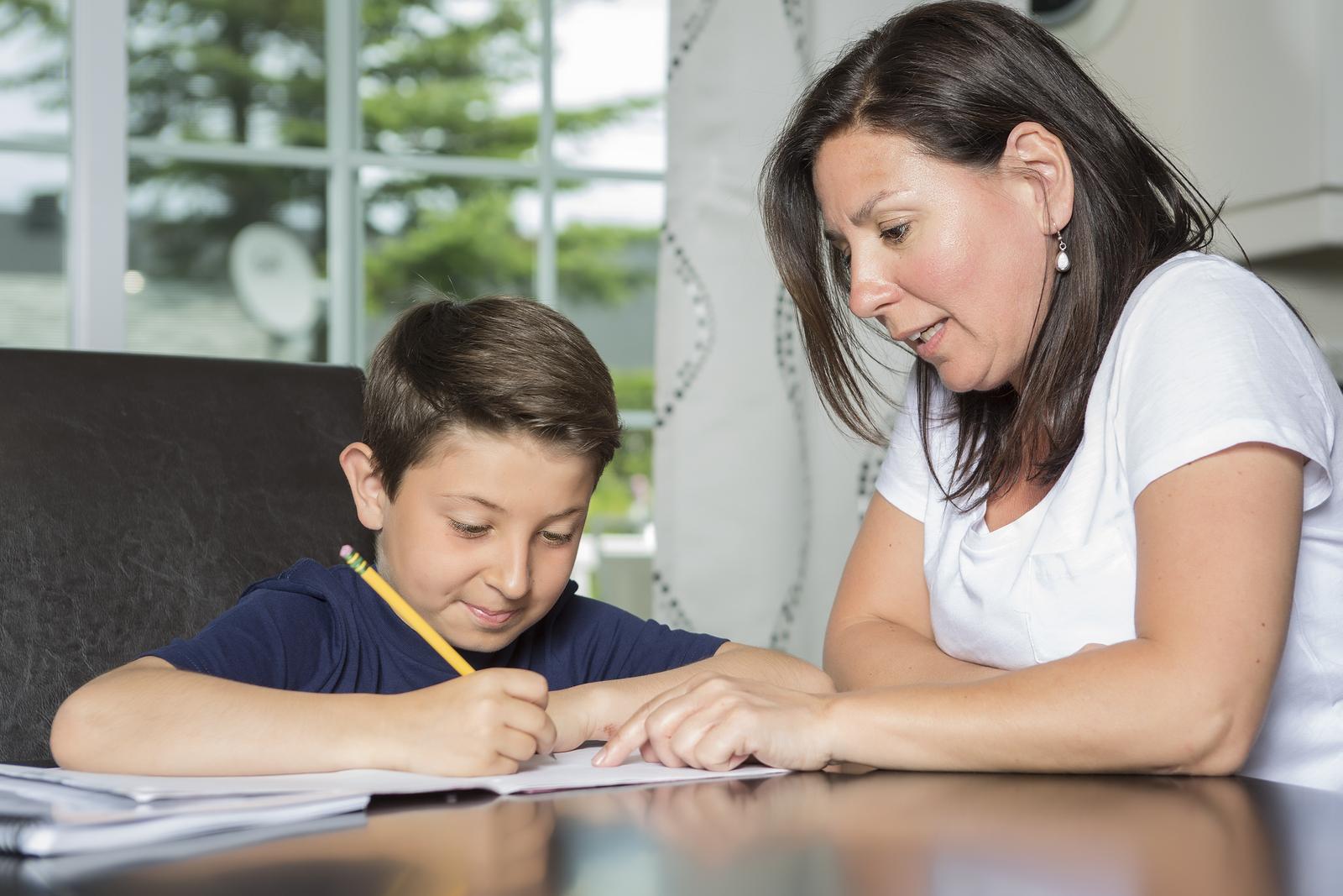 How do you encourage a child who does homework