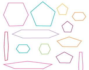 Regular and irregular shapes defined for primary school