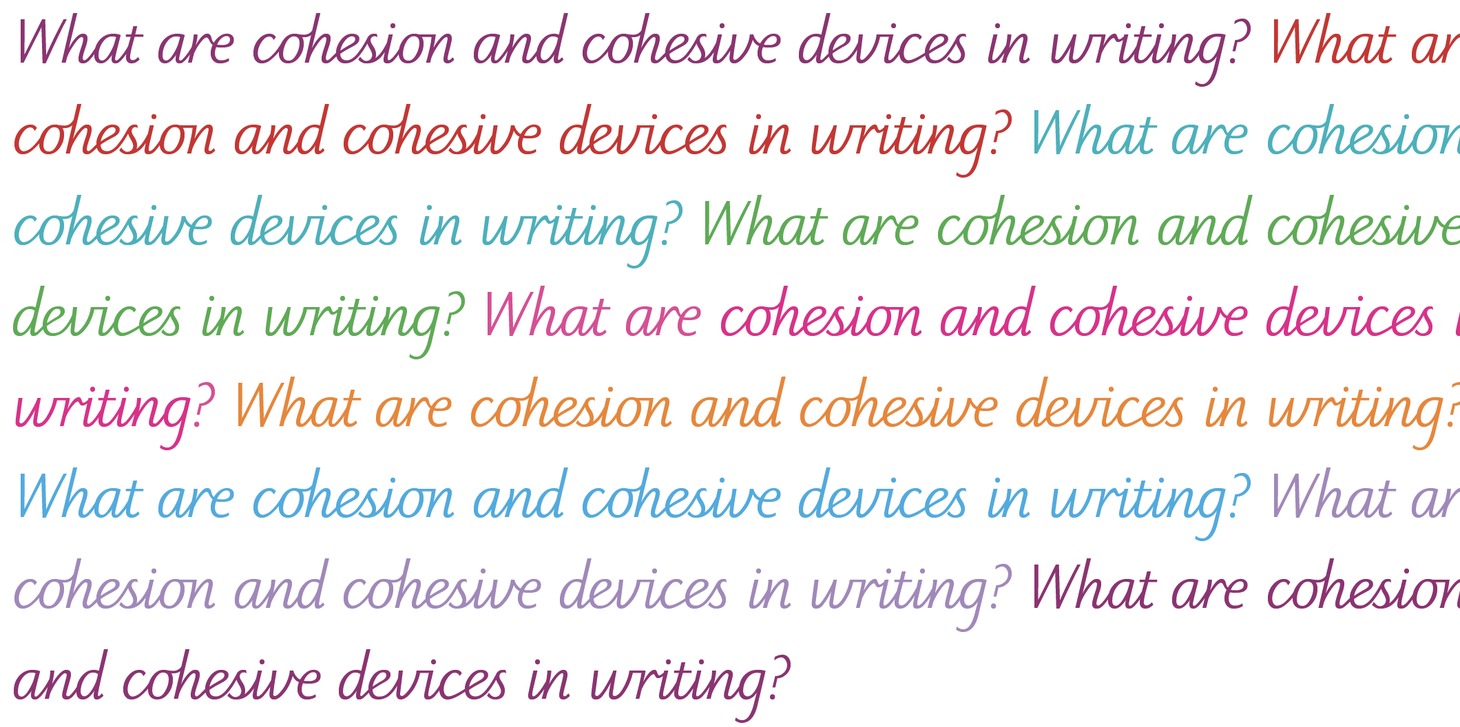 Cohesion In Writing Cohesive Devices In Writing Explained For
