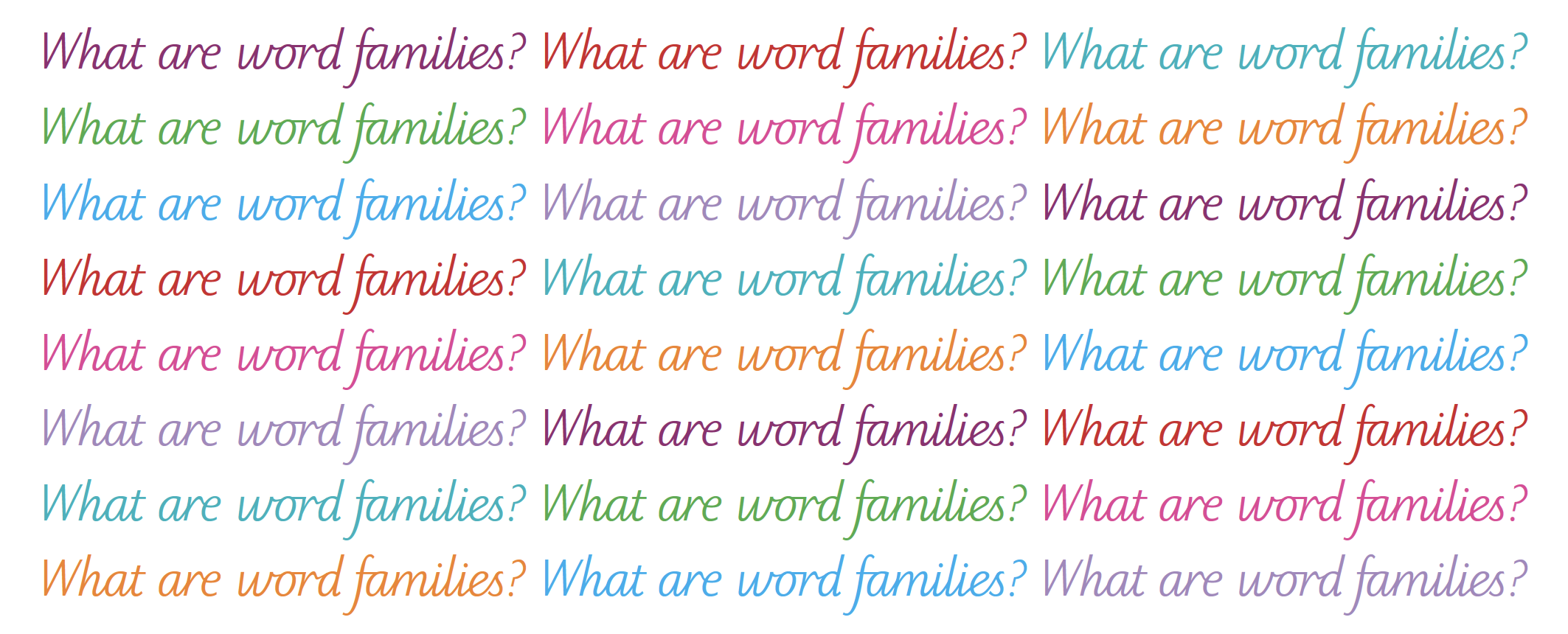 Word families explained for parents | Spelling and word families in ...