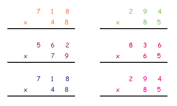Long Multiplication Explained For Primary School Parents Column