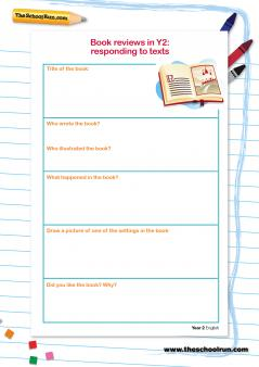 Book Reports And Book Reviews In Primary School
