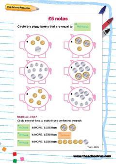 money maths activities uk money worksheets for primary school children theschoolrun. Black Bedroom Furniture Sets. Home Design Ideas
