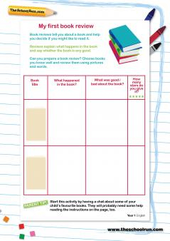 Template for writing a book review ks2 sats