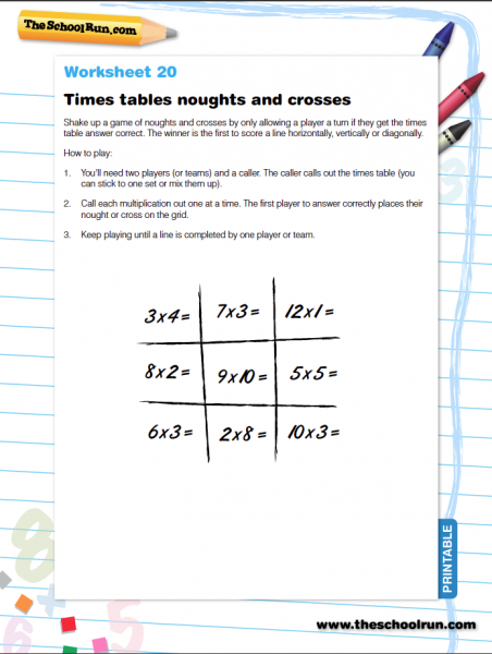 Times tables 4