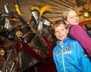 Children at Warwick Castle