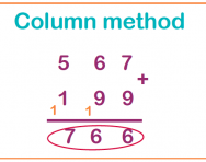 What is the column method?