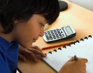 Boy doing maths work