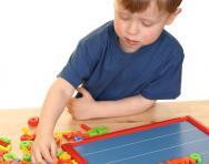 Boy learning phonics sounds