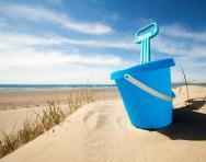 Bucket and spade on the beach