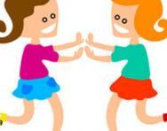 Cartoon girls playing
