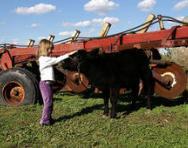 Child on a farm