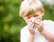 Child sneezing