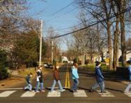 Children crossing the road