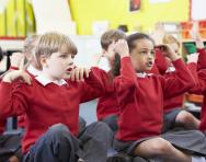 Children learning through singing