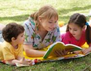 Children reading together