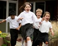 Children running energetically