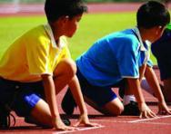 Children at start of race