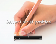Correct wrist position for handwriting video