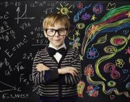 Creative child at the blackboard