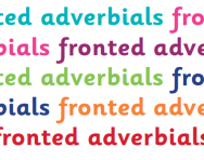 What are fronted adverbials?