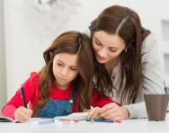 Home education mum and daughter