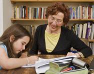 Homework with grandparent
