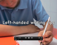 Left-handed handwriting tips and advice video