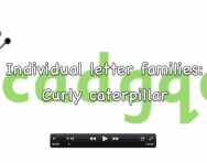 Letter formation video, Curly caterpillar letter family