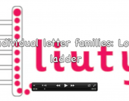 Letter formation video, Long ladder letter family
