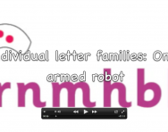 Letter formation video, One-armed robot letter family