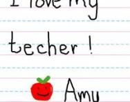 Letter to teacher