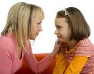 Mum and daughter talking