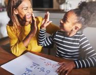 Parent and child doing maths