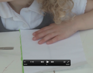 Pre-handwriting activities using scissors video