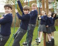 Primary-school children in the playground