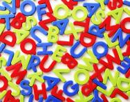 Alphabet letter magnets