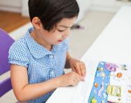 Reception child reading