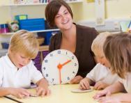 Reception children with teacher