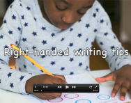 Right-handed handwriting tips and advice video