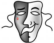 Sad - happy theatre mask