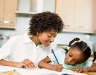 SATs preparation: mother and daughter