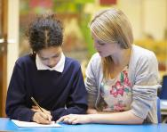 TA and pupil reading