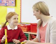 Teacher and child in the classroom
