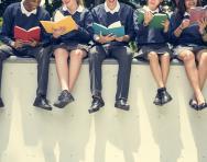 Teens in school uniform