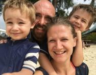 Travelling the world: the Evans family