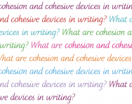 What are cohesion and cohesive devices in writing?