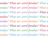 What are word families?